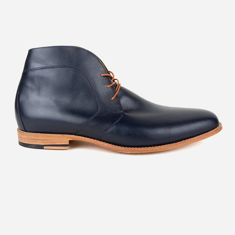The Vancouver Chukka - navy leather mens chukka boot - Poppy Barley