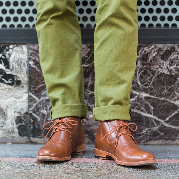 The Vancouver Chukka - tan calf leather chukka boots with natural sole - Poppy Barley