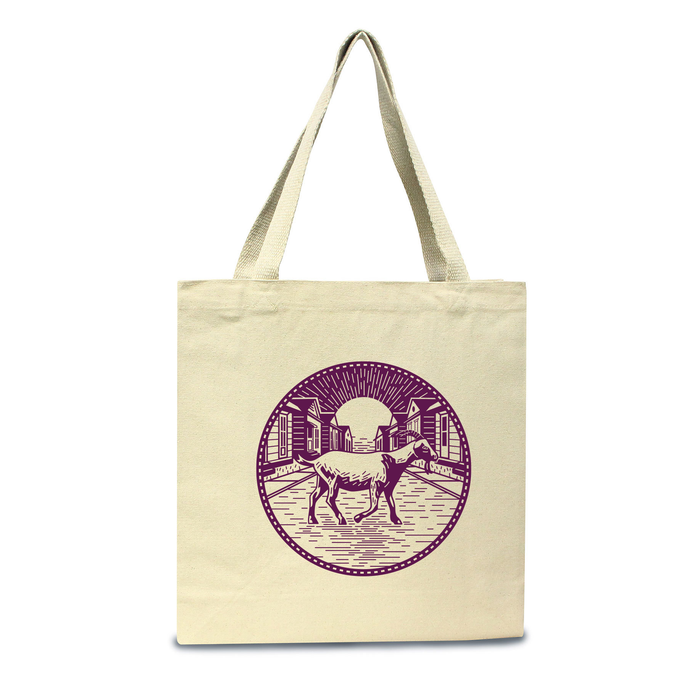 Goat in the Road Tote