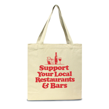 Support Your Local Restaurants & Bars Tote