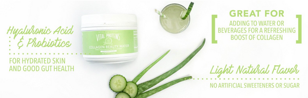 Cucumber Aloe Collagen Beauty Water - Vital Proteins | Paleo By Maileo