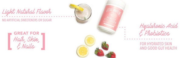 Strawberry Lemon Collagen Beauty Water - Vital Proteins | Paleo By Maileo