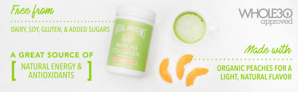 Peach Matcha Collagen - Vital Proteins | Paleo By Maileo