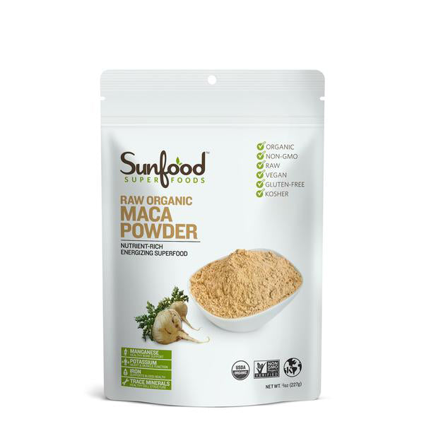 Maca Powder (Organic) - 4oz Sunfood - Paleo By Maileo
