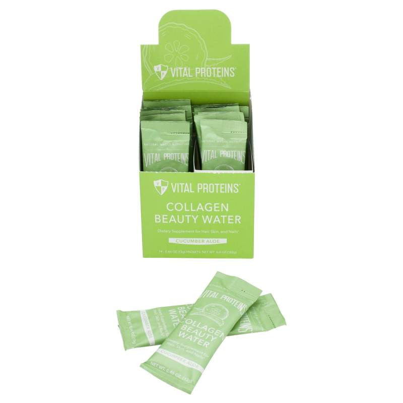 Cucumber Aloe Collagen Beauty Water Stick Packs - 13g Vital Proteins - Paleo By Maileo