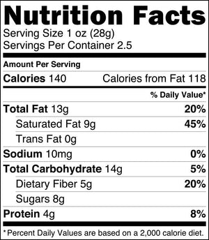 Crunchy Caramel Primal Chocolate (Organic) - 2.5 oz eatingEVOLVED - Paleo By Maileo Nutrition Facts
