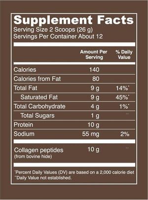Mocha Collagen Creamer - 11.2oz Vital Proteins - Paleo By Maileo Nutrition Facts
