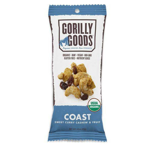 Coast Trail Mix - Sweet Curry Cashew (Organic) - 1.3oz Gorilly Goods - Paleo By Maileo Nutrition Facts