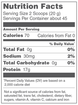 Beef Gelatin - 16oz Vital Proteins - Paleo By Maileo Nutrition Facts