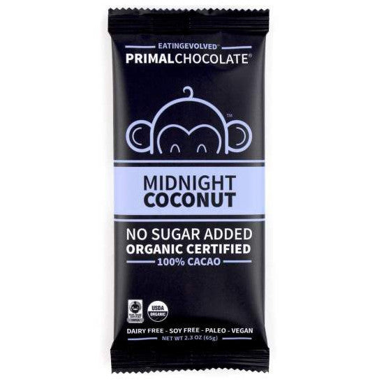 Midnight Coconut Primal Chocolate (Organic) - 2.5oz eatingEVOLVED - Paleo By Maileo