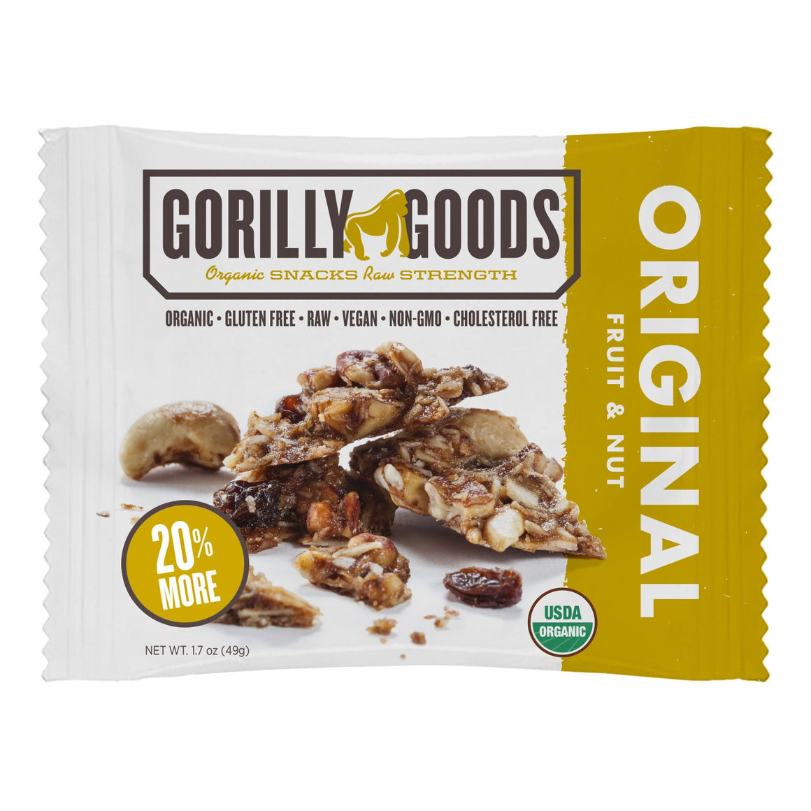 Jungle Original Fruit/Nut Snack (Organic) - 1.7oz Gorilly Goods - Paleo By Maileo