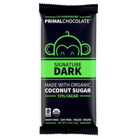 Signature Dark Primal Chocolate (Organic) - 2.5oz eatingEVOLVED - Paleo By Maileo