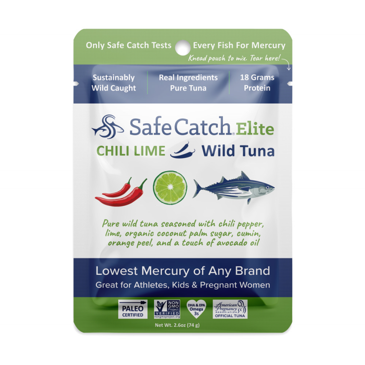 Chili Lime Elite Wild Tuna Pouch - 2.6oz Safe Catch - Paleo By Maileo