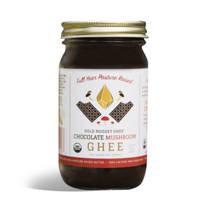 Chocolate Mushroom Ghee (Organic) - 8oz Gold Nugget Ghee - Paleo By Maileo