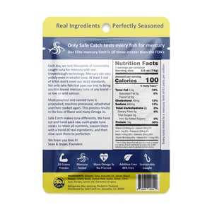 Citrus Pepper Elite Wild Tuna Pouch - 2.6oz Safe Catch - Paleo By Maileo Nutrition Facts