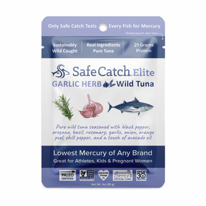 Garlic Herb Elite Wild Tuna Pouch - 2.6oz Safe Catch - Paleo By Maileo