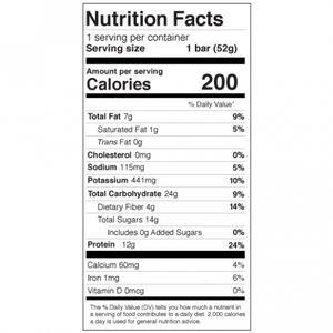 Mango Pineapple Protein Bar - 1.83oz RXBAR - Paleo By Maileo Nutrition Facts
