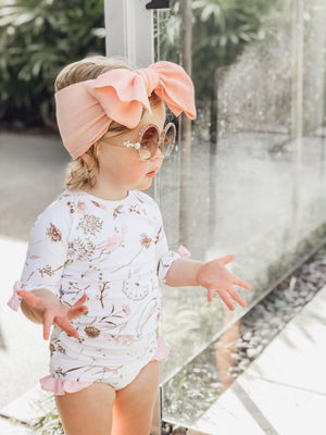 LUNA sunsuit pink UPF 50+ sizes 000 - 8 - lunastreasures