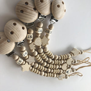 Raw double soother chain - lunastreasures