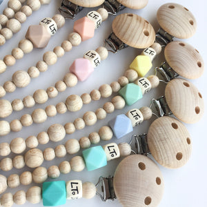 Raw Hex soother chains - lunastreasures