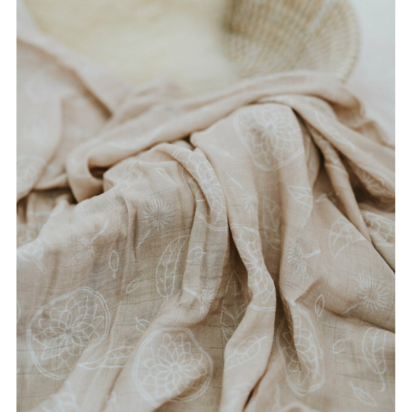 Beach Sand Boho Dreams Bamboo muslin Swaddle wrap - lunastreasures