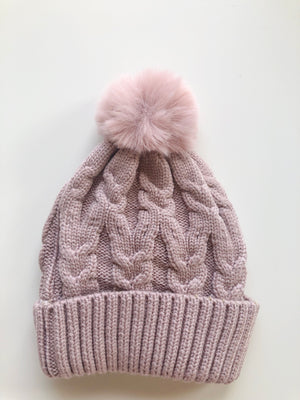 PRIMROSE SINGLE POM cosy knit beanie - lunastreasures