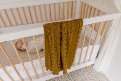 super soft baby cable knit blanket