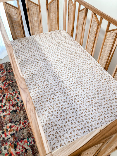 Bamboo Desert Daisy Jersey Cot Fitted sheet at Best Price