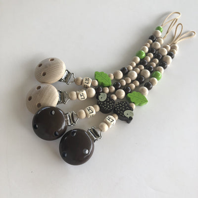 Buy Baby Wooden Soother Chain | Wooden Dummy Clip - lunastreasures