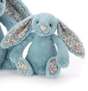 Jellycat Blossom bashful little bunny small size - aqua - lunastreasures
