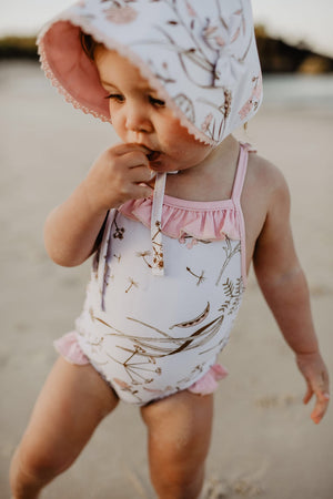 PEPPA one piece swimsuit pink UPF 50+ sizes 000 - 8 - lunastreasures
