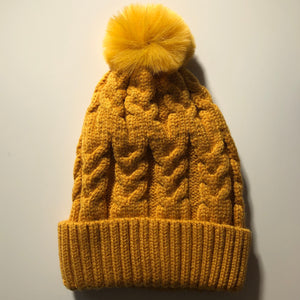 SUNRISE SINGLE POM cosy knit beanie - lunastreasures