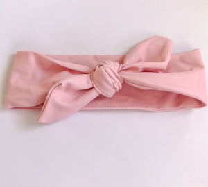HANNAH topknot headband solid colour pink UPF 50+ 2 sizes