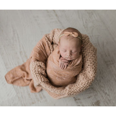 Rusty Clay Boho Dreams Bamboo muslin Swaddle wrap - lunastreasures