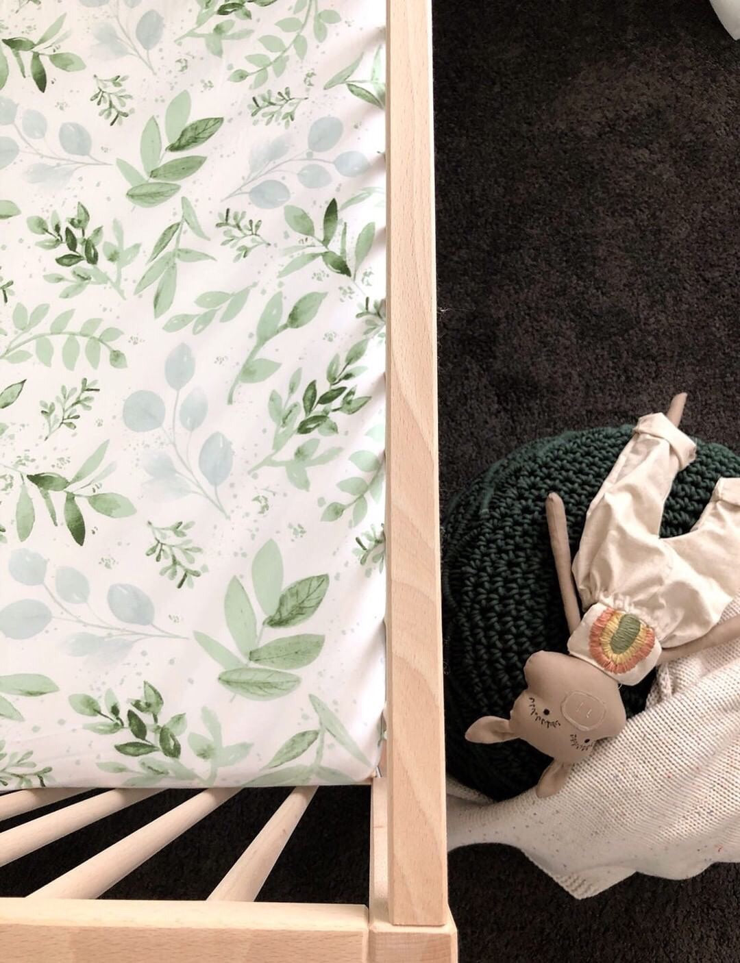 Evergreen bamboo JERSEY COT sheet - lunastreasures