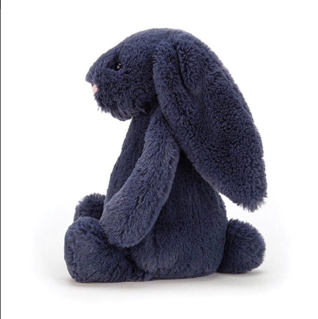 Jellycat bashful little bunny medium size - navy - lunastreasures