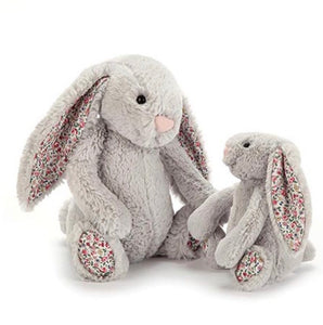 Jellycat blossom bashful silver bunny - medium size - lunastreasures