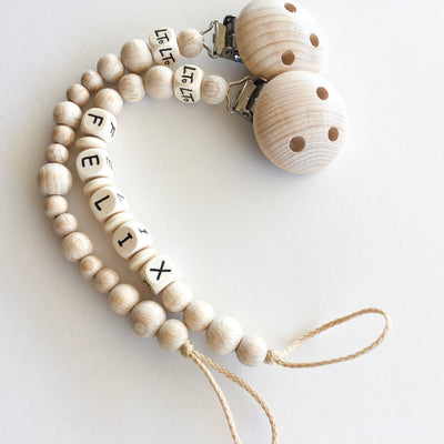 Signature Raw personalised soother chains - lunastreasures