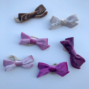 LUCIE velvet bow headband - lunastreasures