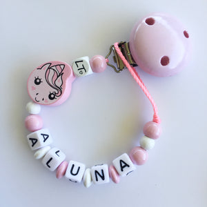 Lunabelle the unicorn personalised soother chain - lunastreasures