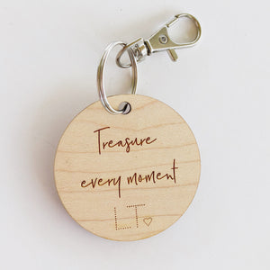 Treasure every moment key tag - lunastreasures