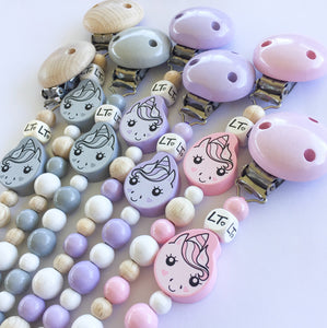 Lunabelle the unicorn soother chain - lunastreasures