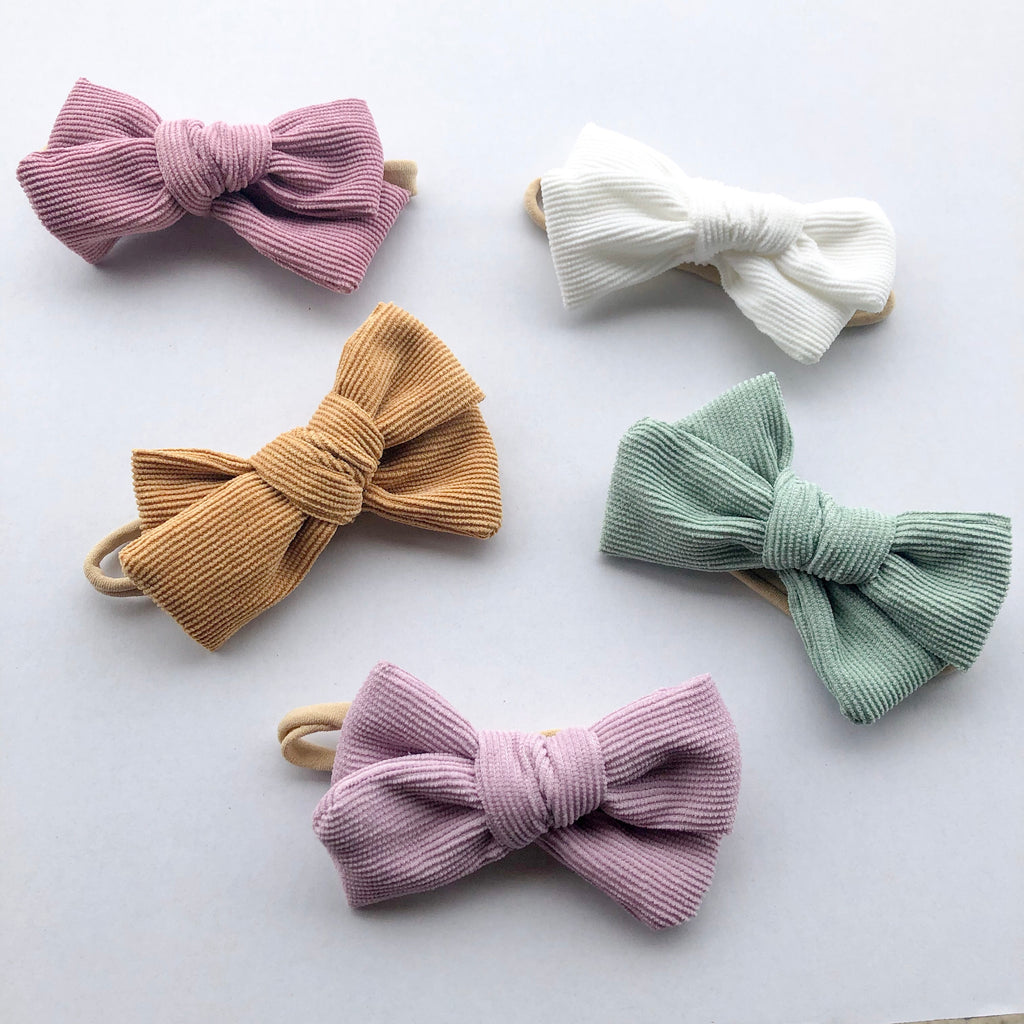LUNA corduroy bow headband - lunastreasures