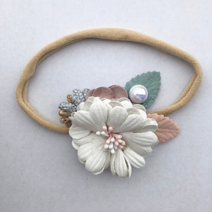 ZALIE floral headband (from newborn) - lunastreasures