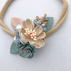 AZALEA floral headband (from newborn) - lunastreasures