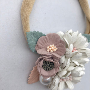 FLEUR floral headband (from newborn) - lunastreasures