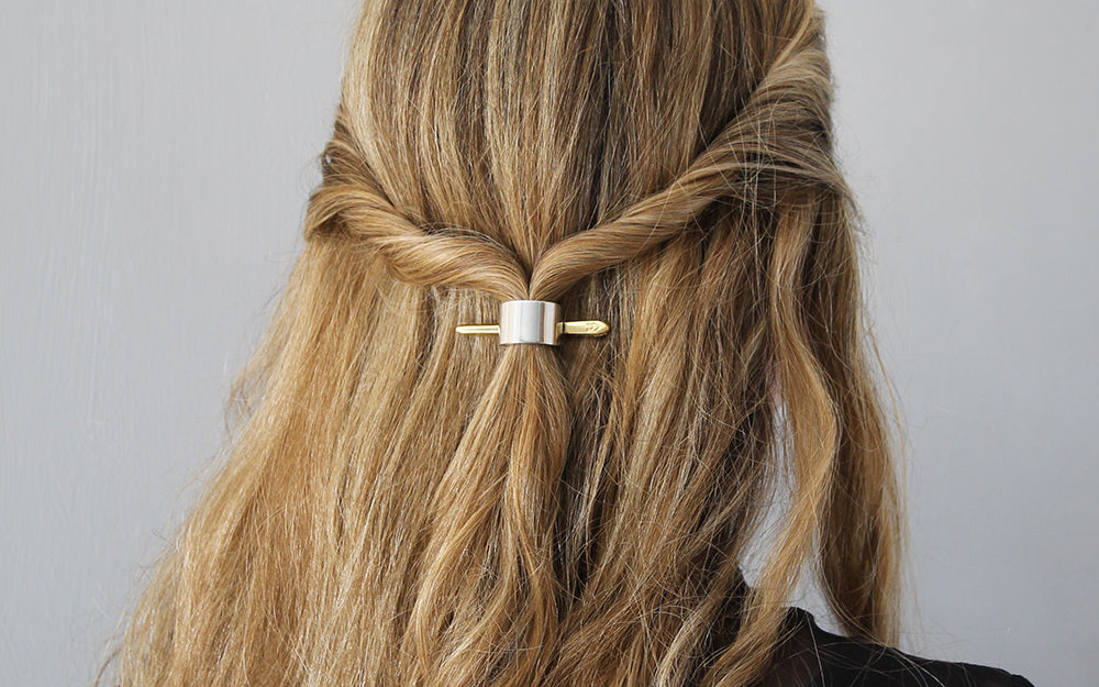 The Easy Twisted Half-Up Hairstyle for Wavy Hair
