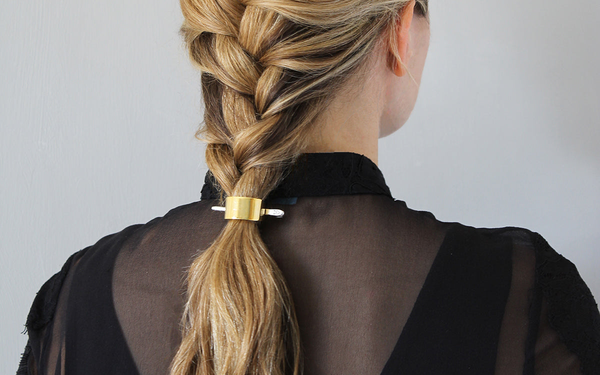 The 2-minute French Braid for Wavy Hair