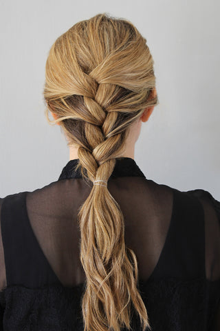 Step 2_2-Minute French Braid for Wavy Hair