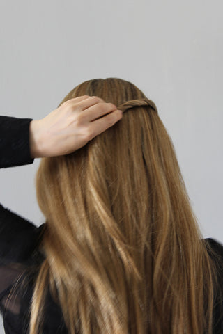 Step 2 - Polished Half-Up Hairstyle for Straight Hair